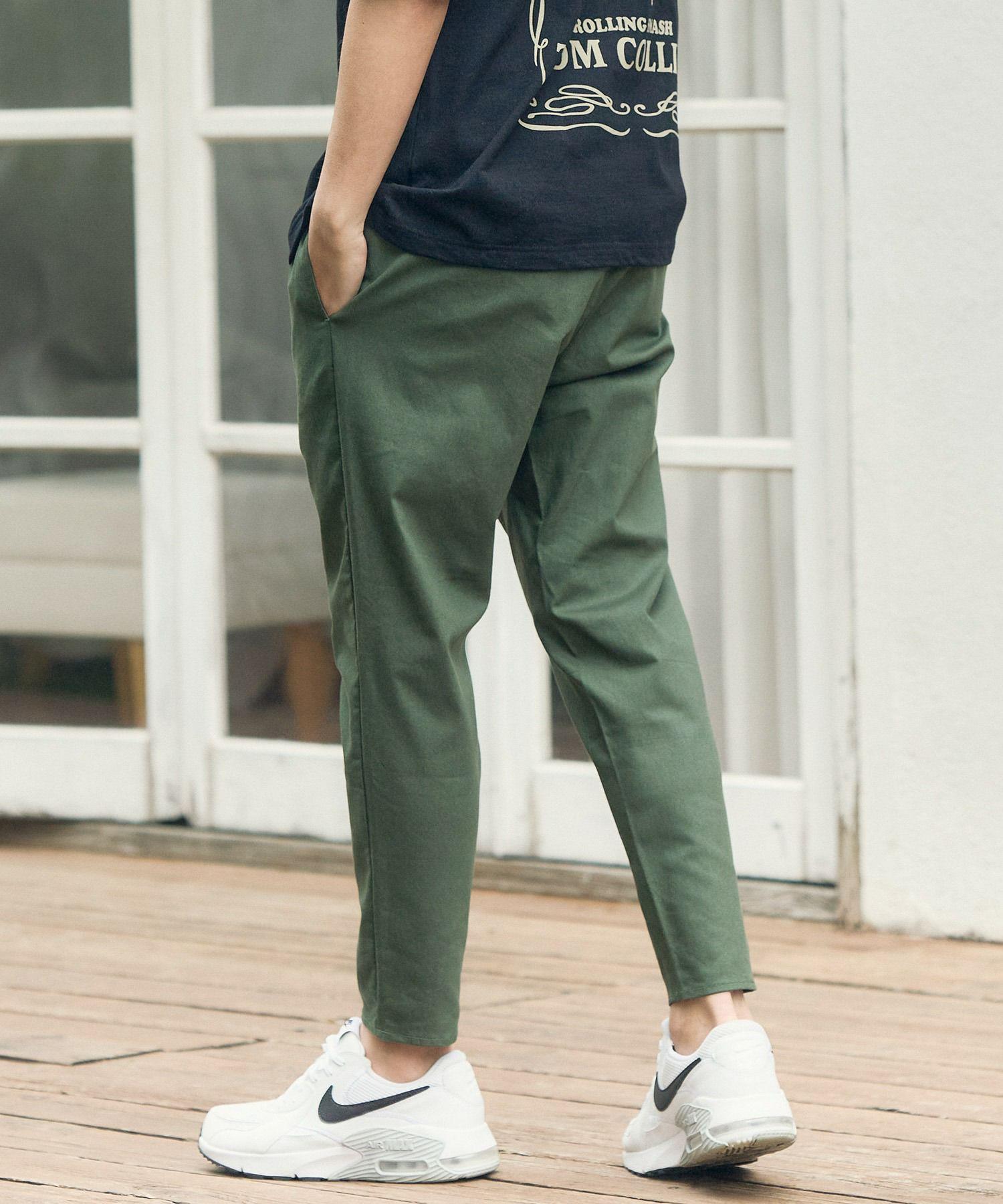 【一部サイズカラー予約販売11月下旬~12月上旬入荷予定】【CAMBIO(カンビオ)】Stretch Saruel Tight Tapered Pants  サルエルパンツ
