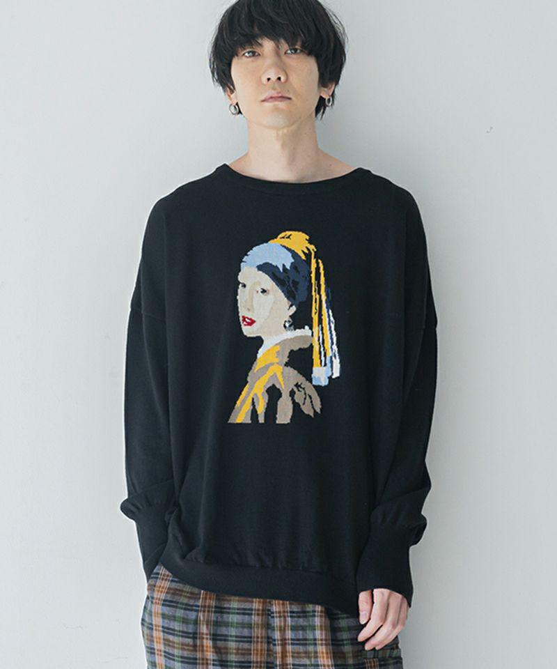 【STORAMA(ストラマ)】MASTERPIECE KNIT PO VERMEER-真珠の耳飾りの少女(STRM-21B)