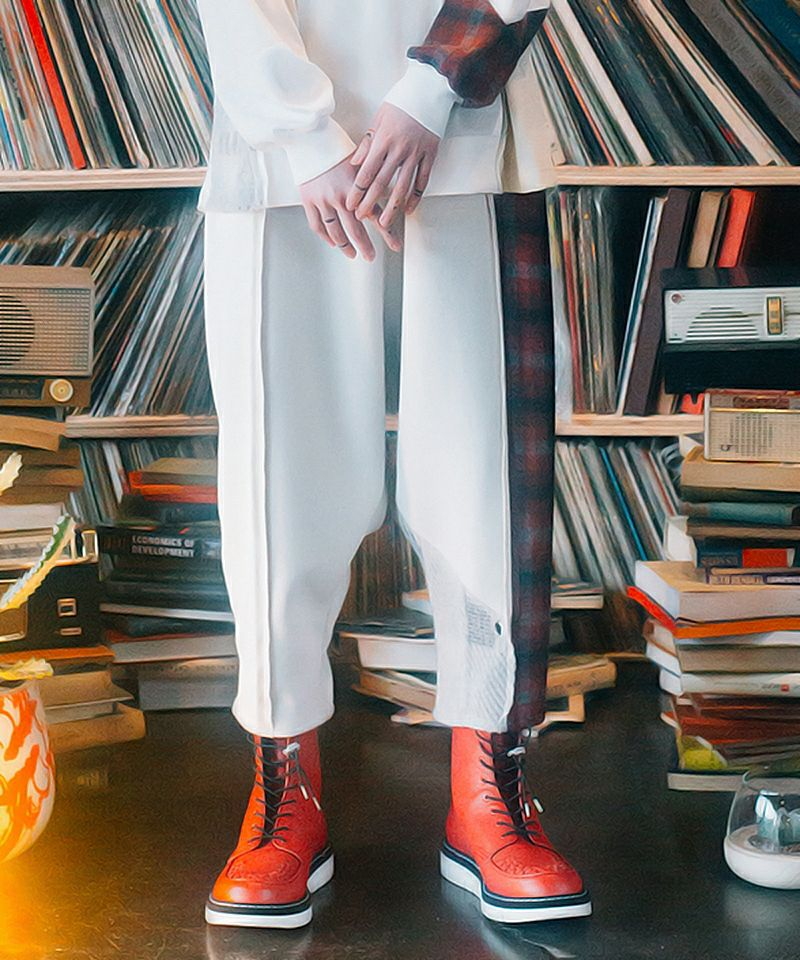【STOF(ストフ)】Mad Patchwork Wide Pants パンツ(SF21AW-24)