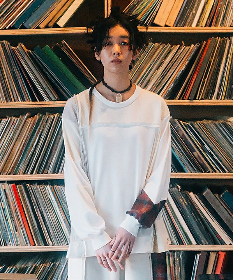 【STOF(ストフ)】Mad Patchwork L-S Tee Tシャツ(SF21AW-23)