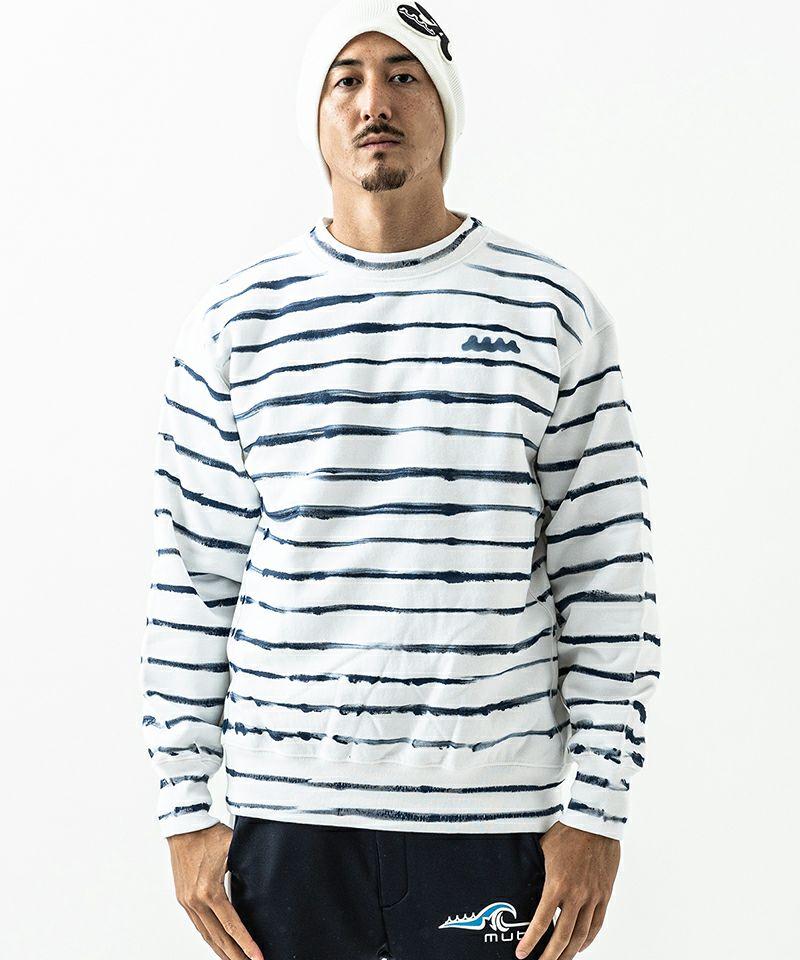 【ACANTHUS(アカンサス)】xmuta Hand Border Paint Sweatshirt スウェット(MA2124)