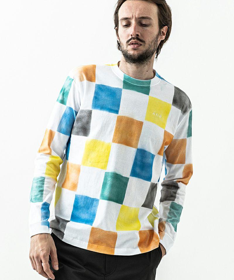 【ACANTHUS(アカンサス)】Block L-S Tee Tシャツ(CT2111)