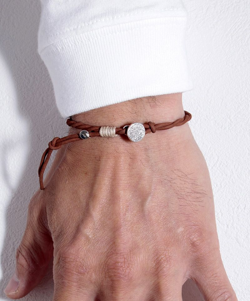 【VIVIFY(ビビファイ)】【予約販売ご注文から1ヶ月後出荷】 Melted Texture Button Nubuck Cord Bracelet  ブレスレット(VFB-174)