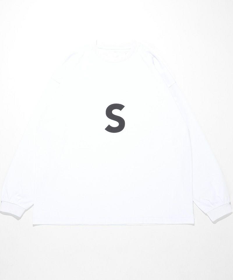 【SUPERTHANKS(スーパーサンクス)】【予約販売12月上旬~中旬入荷】S-LOGO CREWNECK LONGSLEEVE BIC T-SHIRT (FRONT & BACK PRINT) Tシャツ(ST214CS006)