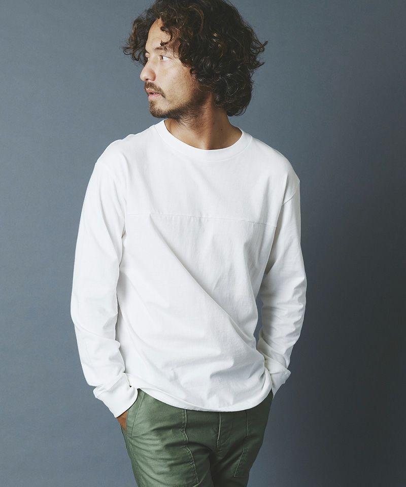 【Magine(マージン)】CTN OPEN-END SWICH PANEL  C-N L-S Tシャツ(2132-35)