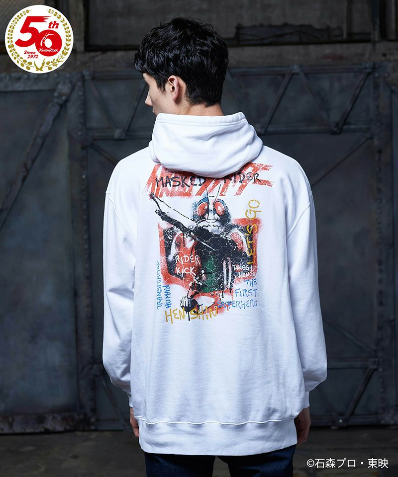 【glamb(グラム)】【予約販売11月上旬~中旬入荷】MASKED RIDER 1 hoodie 仮面ライダー1号フーディー(GB0321-KR02)
