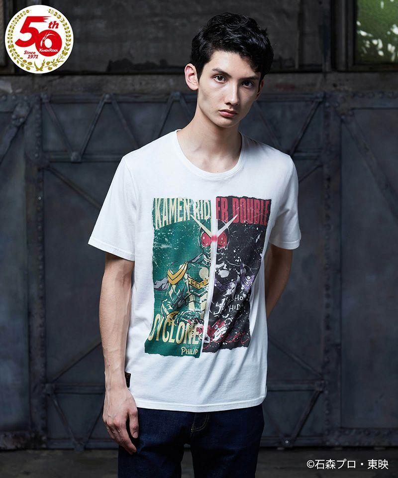【glamb(グラム)】【予約販売11月上旬~中旬入荷】KAMEN RIDER DOUBLE T 仮面ライダーWTシャツ(GB0321-KR11)