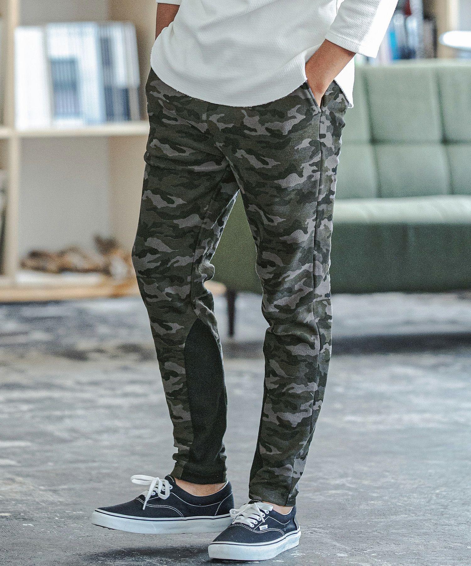 【CAMBIO(カンビオ)】【予約販売10月中旬~下旬入荷】Camouflage Print Sweat Pants スウェットパンツ